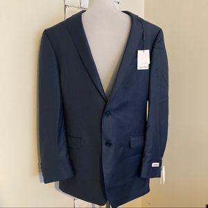 NWT Calvin Klein Suit Jacket 42 Long Blue Blazer